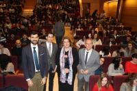 De izda. a dcha. Francisco José Rodríguez, Jürg Sprecher, Mª Carmen Balbuena y Ricarco Córdoba