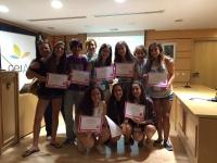 Alumnos de campus científico del ceiA3 recogen su diploma