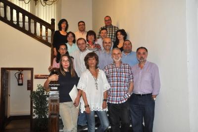 Foto de familia de los integrantes del Comité de Empresa