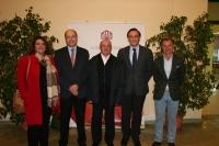 De izquierda a derecha, Mª del Carmen Balbuena, Antonio Cubero, José Castro, José Carlos Gómez Villamandos y Rafael Jordano.