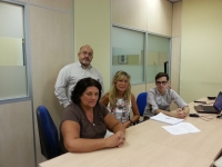Miembros del consorcio que realiza el proyecto durante una reunión