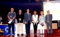 De izquierda a derecha, Valentín Pérez, Antonio Arenas, José Carlos Gómez Villamandos, Rosario Moyano, Elena Mozos y Aniceto Méndez.