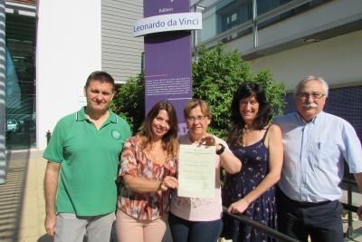 Miembros de la conserjería del edificio Leonardo da Vinci del Campus de Rabanales