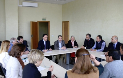 Un momento de la mesa de trabajo con empresarios del sector