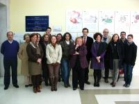 Miembros de la Biblioteca y del Decanato tras el acto de clausura