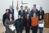 Los premiados con directivos del Imibic, patrocinadores y autoridades