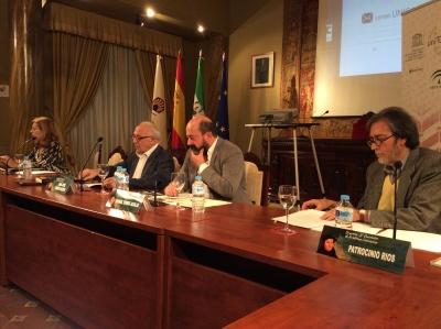 De izquierda a derecha, María del Marcos, José Tamayo, Manuel Torres y Patrocinio Ríos.