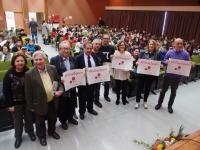 Representantes de las entidades que impulsan la iniciativa posan en la inauguración de la jornada celebrada en Ciencias de la Educación