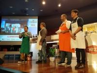 Sergio Sauca, Pepe Begines, David de Jorge y Juan Carlos Ortega en el show cooking celebrado en el Rectorado