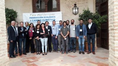 Foto de familia de los participantes del Foro Mediterráneo sobre Producción Ecológica y Cambio Climático