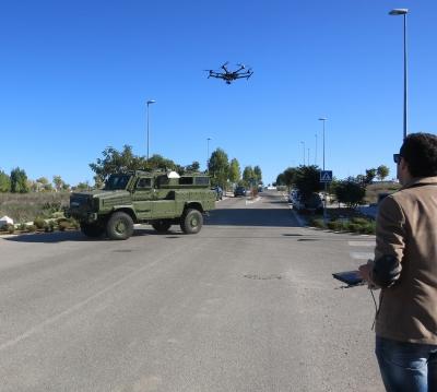 Pruebas con un dron en el Parque Tecnológico