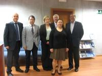 De izq. a dcha. Daniel González, Juan Ramón Cuadros, Alexandra Knobloch , Soizic Tsin y Francisco Gracia