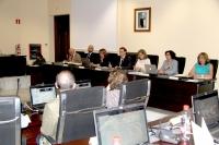 Vista general de la Sala de Consejo de Gobierno durante la sesión ordinaria de hoy
