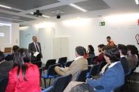Manuel Pineda en un momento de la presentación