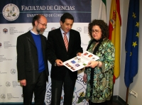 De izq a dcha Jose Manuel Sevilla, Manuel Blázquez y Maria Paz Aguilar