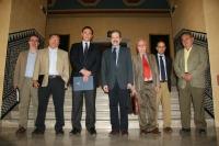 Autoridades académicas de las dos universidades minutos antes de la firma del acuerdo