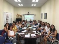Imagen de la reunión mantenida por integrantes del proyecto Infa-Ciencia.