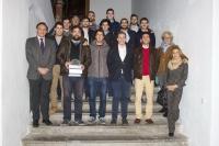 Foto de grupo de la representación de la Universidad de Córdoba, encabezada por el rector, en el acto