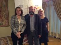 Ilke Toygür y Mira Milosevich, junto a Manuel Torres
