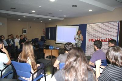 Vista general de la sala Club, durante la intervención de la presidenta del Consejo Social, Anabel Carrillo.