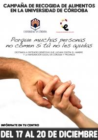 Campaña de recogida de alimentos en la Universidad de Córdoba