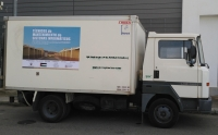 Camión (Nissan B-1765-SC) que ha partido desde Córdoba hacia los Campamentos de refugiados Saharauis