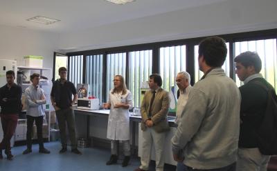 Un momento de la visita que los alumnos de la  UCO han realizado a las instalaciones de Rabanales 21