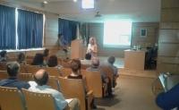 Momento de la conferencia de Ana Bravo del Moral, presidenta de la EAEVE