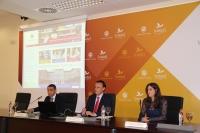 Alfonso Zamorano, José Carlos Gómez Villamandos y Alejandra López, en la presentación del nuevo portal