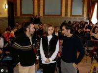De izqda. a dcha., Enrique Garcés, Rosario Mérida y Juan Hidalgo