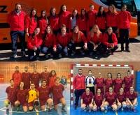 Imagen de las tres selecciones de la Universidad de Córdoba