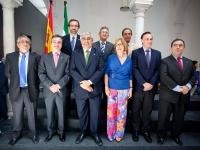 Foto de familia de los rectores andaluces con los nuevos consejeros Ramírez de Arellano y Adelaida de la Calle