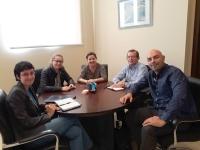 La vicerrectora de Relaciones Nuria Magaldi (la primera por la izquierda), junto a profesoras de la UFSC y de la UCO