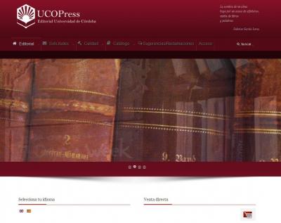 Imagen del nuevo portal de UCOPress