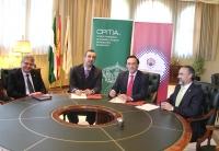De izquierda a derecha, Lorenzo Salas, Pedro J. de la Torre, José Carlos Gómez Villamandos y Juan Luna.