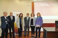 Autoridades asistentes a la presentación del nuevo ciclo de actividades programado por la Cátedra Góngora