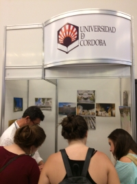 Stand de la UCO en la feria celebrada en Brasil