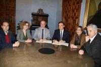 De izda. a dcha., Blas Sánchez, Marisa Ruz, Antonio Ruiz, José Carlos Gómez Villamandos, Julieta Mérida, y José Juan Aguilar