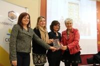 De izquierda a derecha, Mercedes Bermúdez, Rosario Mérida, Carmen Calvo y Oliva Acosta
