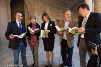 Presentación del libro en el palacio de Carlos V de la Alhambra (Granada)
