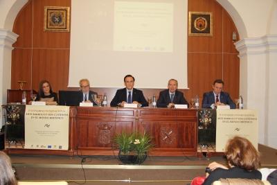 De izauierda a derecha, Paula Revenga, Pedro Poyato, José Carlos Gómez, Ricardo Córdoba y Eulalio Fernández, en la inauguración del Congreso.