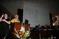 El profesor José Peña durante su lección inaugural