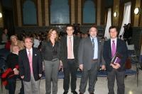 De izqda. a dcha., Julián Morales,Anabel Carrillo, Manuel Blázquez,  Bernardo Herradón y Justo Castaño