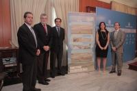 De izq a dcha, Padro Gómez, Jose Manuel Roldán, Jose Antonio Nieto, Blanca Landa y Rafael Jaén