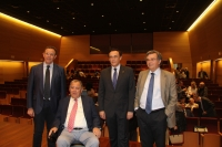 De izquierda a derecha, Eulalio Fernández, Enrique Aguilar Gavilán, José Carlos Gómez Villamandos y Bartolomé Valle