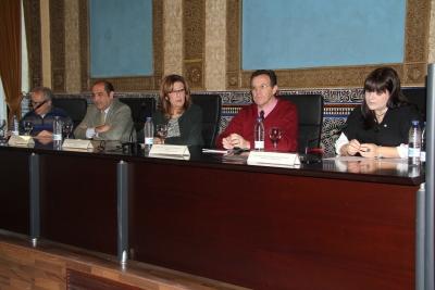 Autoridades participantes en la inauguración del Seminario