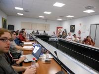 Representantes andaluces en sesión. Izquierda primer plano, Alejandro García, nuevo presidente de la CARE