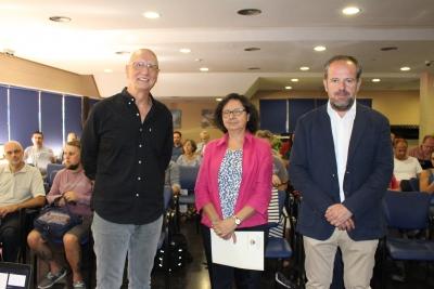 Carlos Fernández-Delgado, María Teresa Roldán y Francisco de Paula Algar