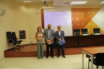 Mérida, Quesada y Pineda en la presentación hoy del programa