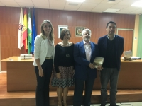 De izqda. a dcha., Rosa Gallardo, Mª Carmen Liñán, José Ignacio Cubero y Javier Ortega